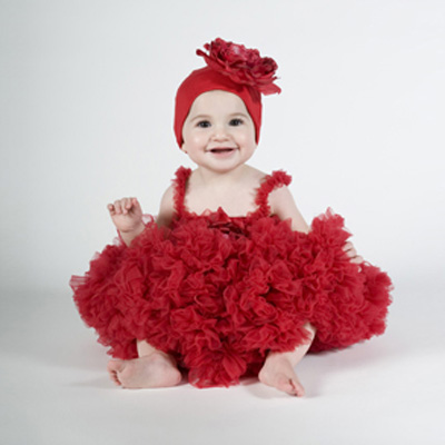 Very red Baby Dress Clothes