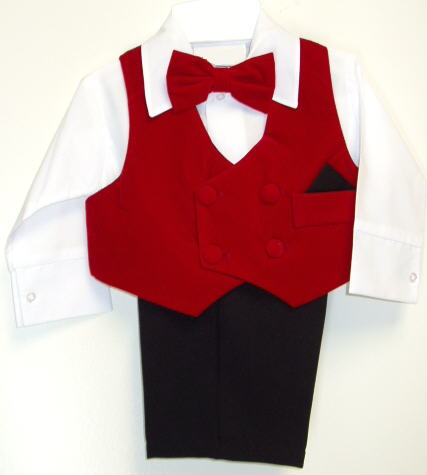Red Baby Suits
