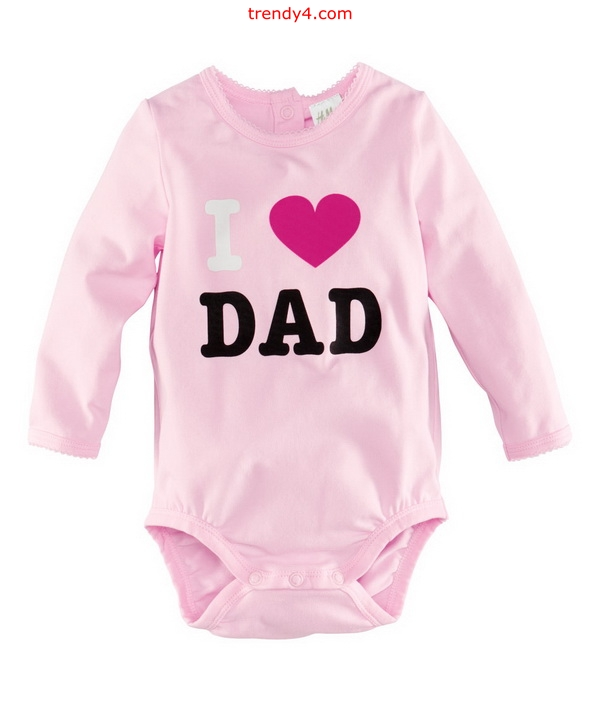 I Love Dad Cute Baby Clothes 2016