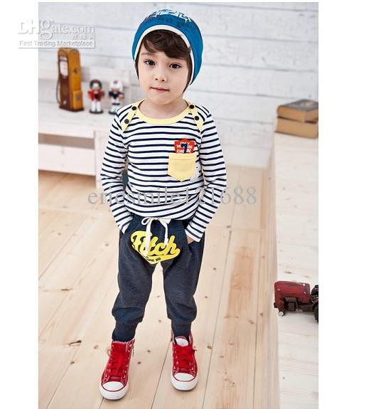 Horizontal line Cute Boy Baby Clothes