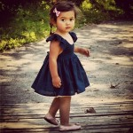 Navy Blue Cute Childrens Clothes