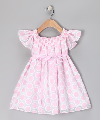 Pink dots Infant Dresses