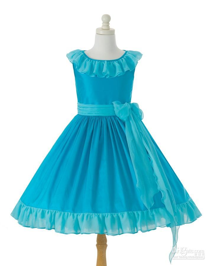 blue kid dresses 2016