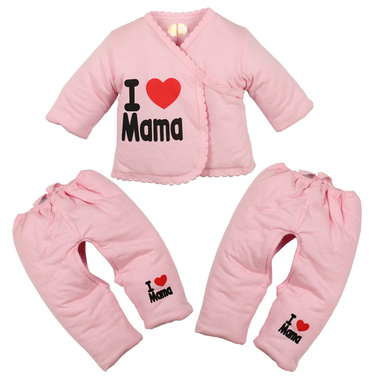 I Love Mama Newborn Girl Clothes