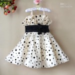 Black dots Toddler Dresses
