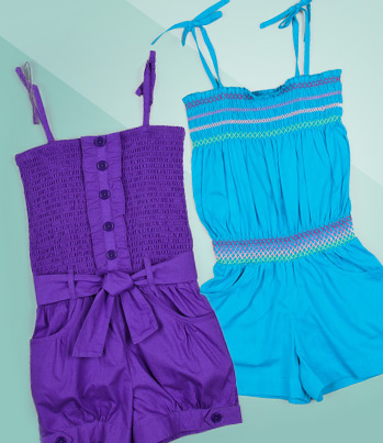 Purple & Blue Toddler Spring Dresses